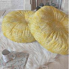 Dedmon Lotus Decorative Round Floor Pillow