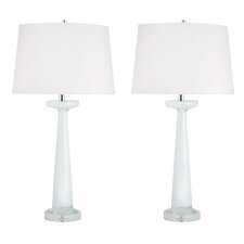 """Geer Glass 32"""" H Table Lamp (Set of 2)"""