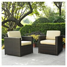 Crosson Deep Seating Group with Cushion (Set of 2)