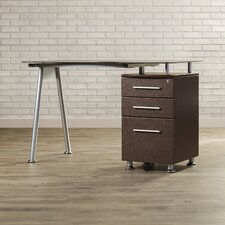Sherrill Writing Desk with Side Cabinet in Chocolate