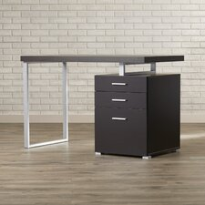 Pascua Computer Desk with 3 Space Storage Drawers