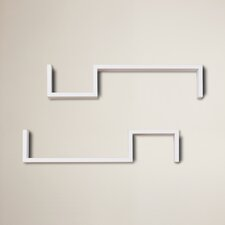 "Decorative ""S"" Shaped Wall Shelf (Set of 2)"