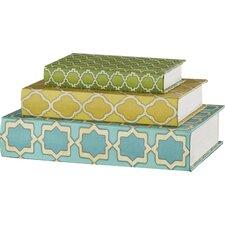 Hall 3 Piece Geometric Print Book Decorative Box Set