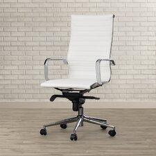 Kingston High-Back Upholstered Faux Leather Executive Office Chair
