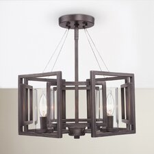 Politte 4 Light Semi Flush Mount