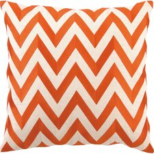 Kessler Embroidered Zig Zag Linen Throw Pillow