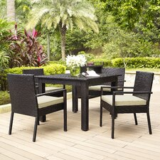 Crosson 5 Piece Dining Set with Cushions