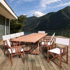 Thomas San Antonio Extendable Patio 11 Piece Dining Set