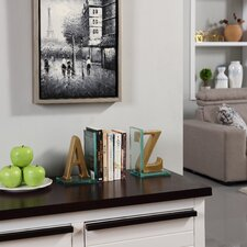A to Z Glass Book Ends