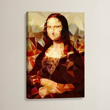 'Mona Lisa Derezzed' Graphic Art on Wrapped Canvas