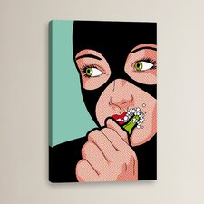 """'Cat Brush' by Gregoire """"Leon"""" Guillemin Graphic Art on Wrapped Canvas"""