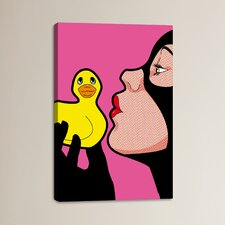 Tweety and Silvester Painting Print on Wrapped Canvas