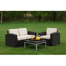 Loggins 3 Piece Sofa Seating Group with Cushion