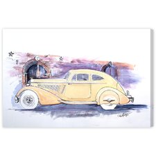 1934 Packard V-12 Sport Coupe Painting Print on Wrapped Canvas