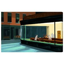 Night Dogs Painting Print on Wrapped Canvas