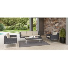 Markowitz Outdoor 4 Piece Deep Seating Group with Cushion