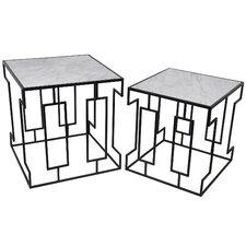 Mathews 2 Piece Marble Nesting Tables
