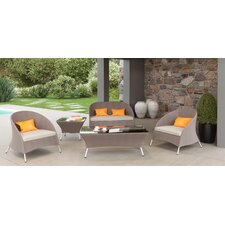 Markowitz Outdoor 5 Piece Deep Seating Group with Cushion