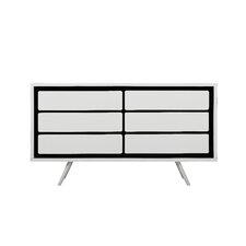 Loughlin 6 Drawers Combo Dresser