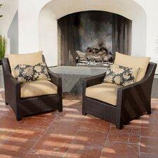 Ahmad Club Chair with Cushions (Set of 2)