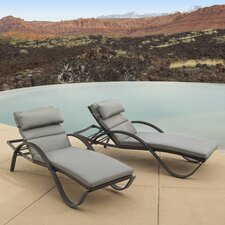 Ahmad Chaise Lounges with Cushions (Set of 2)