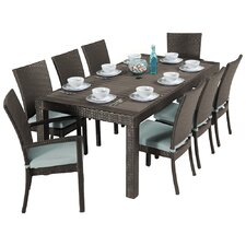 Ahmad 9 Piece Outdoor Dining Set with Cushions