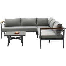 Agora Skyros Outdoor 3 Piece Deep Seating Group with Cushion