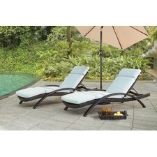 Charterhouse Chaise Lounge with Cushion (Set of 2)