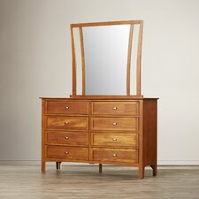 Aditya 8 Drawer Combo Dresser with Mirror