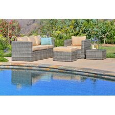Embree 4 Piece Sectionsl Seating Group with Cushions