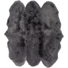 Sheepskin Black Area Rug