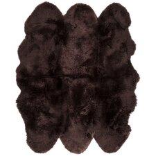 Sheepskin Brown Area Rug