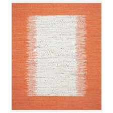 Ona Hand-Woven Ivory / Orange Area Rug
