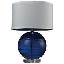 "Alan Blown Glass 25"" H Table Lamp with Drum Shade"