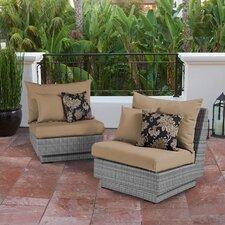Cannes Modular Armless Chair with Cushion (Set of 2)