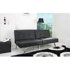 Reily Leatherette Futon Sleeper Sofa