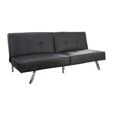 Reily Leatherette Futon Sleeper Sofa