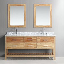 "Josephine 72"" Double Bathroom Vanity Set with Mirror"