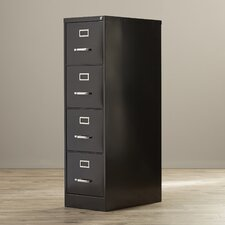 Pierre 4 Drawer Commercial Letter Size Vertical Filing Cabinet