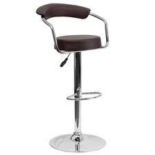 Compton Martin Adjustable Height Swivel Bar Stool with Cushion