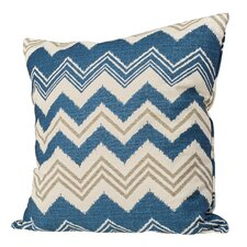 Israel Zigzag Cotton Throw Pillow