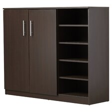 Zachery 15-Pair Shoe Storage Cabinet