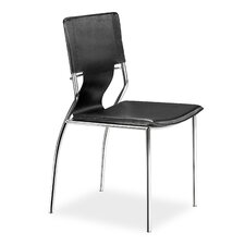 Landin Side Chair with Leatherette Seat and Back (Set of 4)