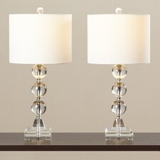 "Andres 24"" H Table Lamp with Drum Shade (Set of 2)"