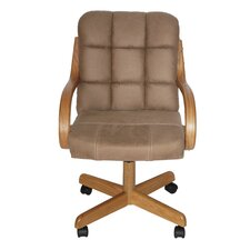 Davila Mid-Back Dining Caster Chair with Arms
