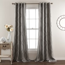 Willow-Spence Room Darkening Curtain Panel (Set of 2)