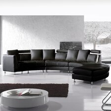 Roberson 4 Piece Leather Circular Living Room Set
