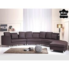 Roberson 4 Piece Leather Circular Living Room Set