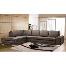 Bender Left Leather Sectional