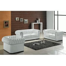 Lamar 3 Piece Leather Sofa Set